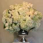 Hydrangeas and roses in silverbucket perla farms hydrangeas and roses for your wedding nationwide delivery.